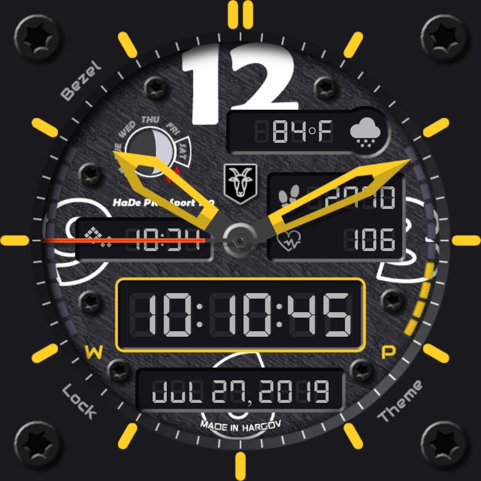 HaDe PRO Sport 130 v2 • Facer: the world's largest watch