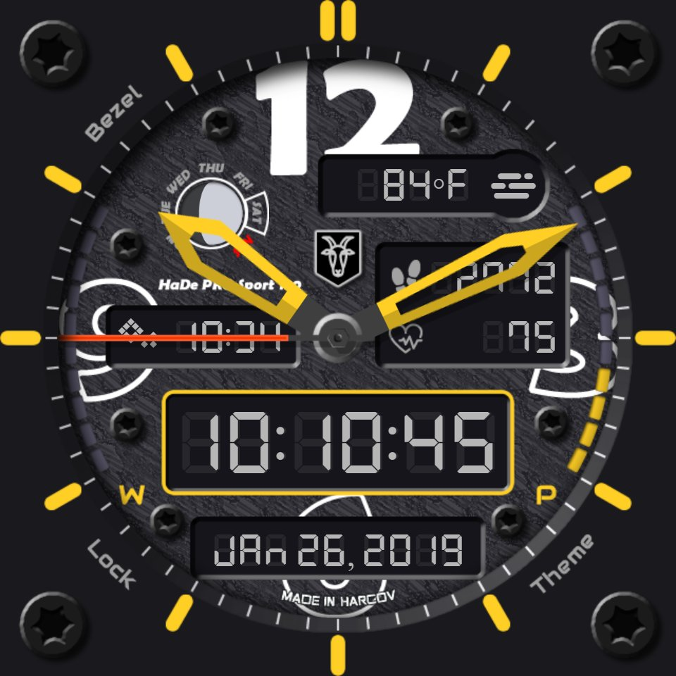 HaDe PRO Sport 130 • Facer: the world's largest watch face platform